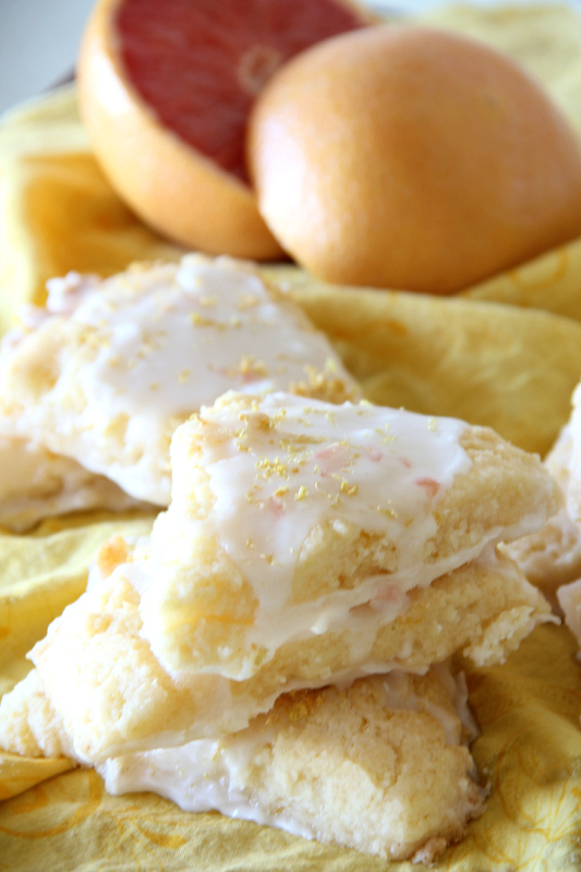 Grapefruit Scones are the perfect breakfast!  They are gluten free, dairy free, and vegan!