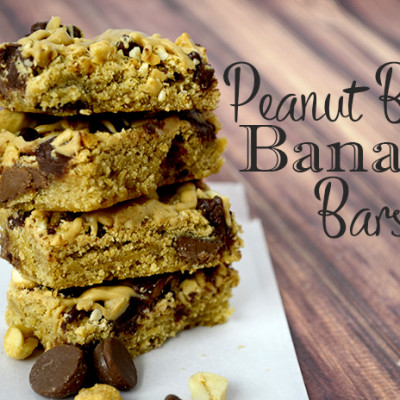 Peanut Butter Banana Cookie Bars