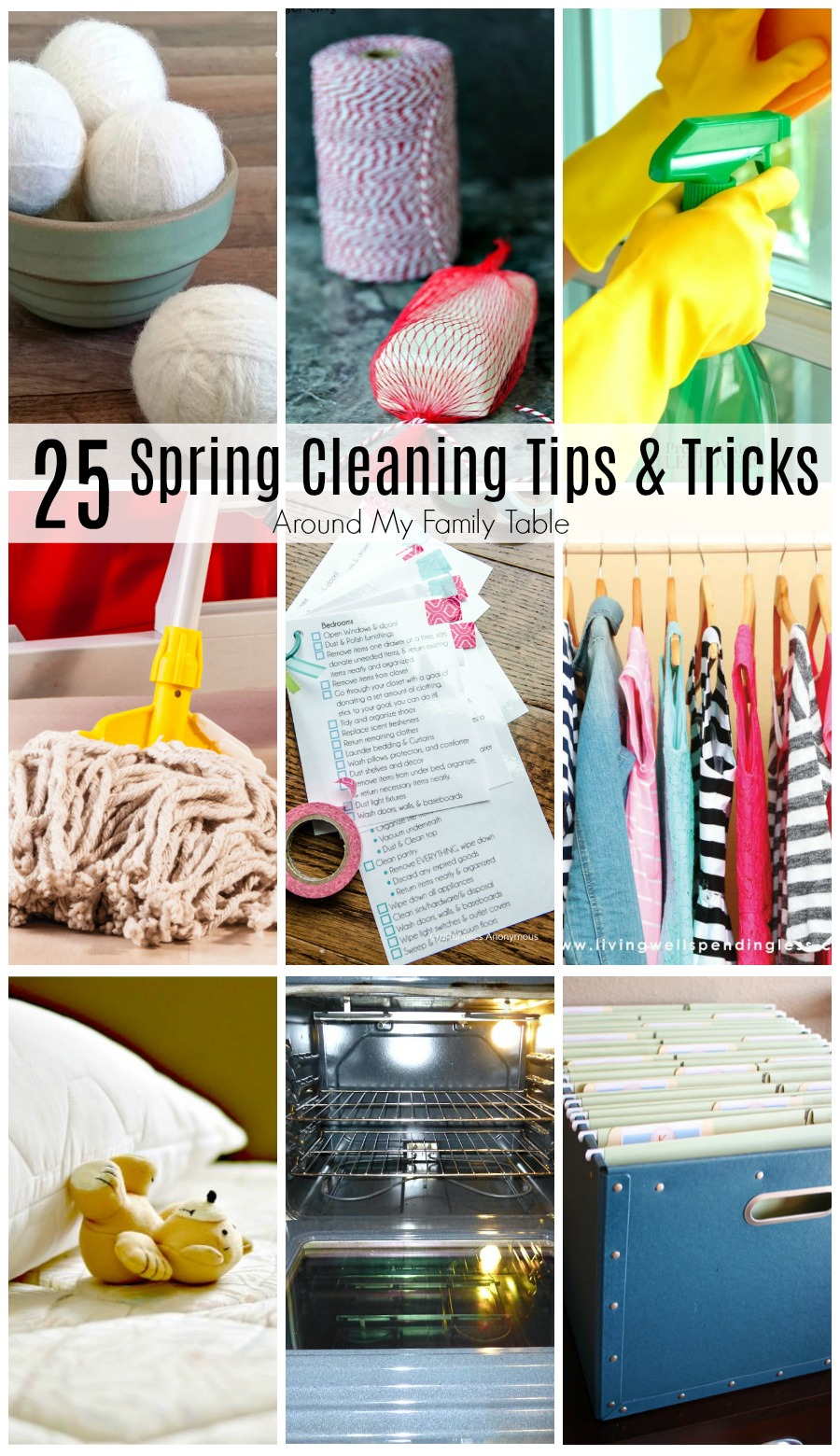 It's time for spring cleaning and these 25 Spring Cleaning Tips & Tricks will help make this task a breeze!