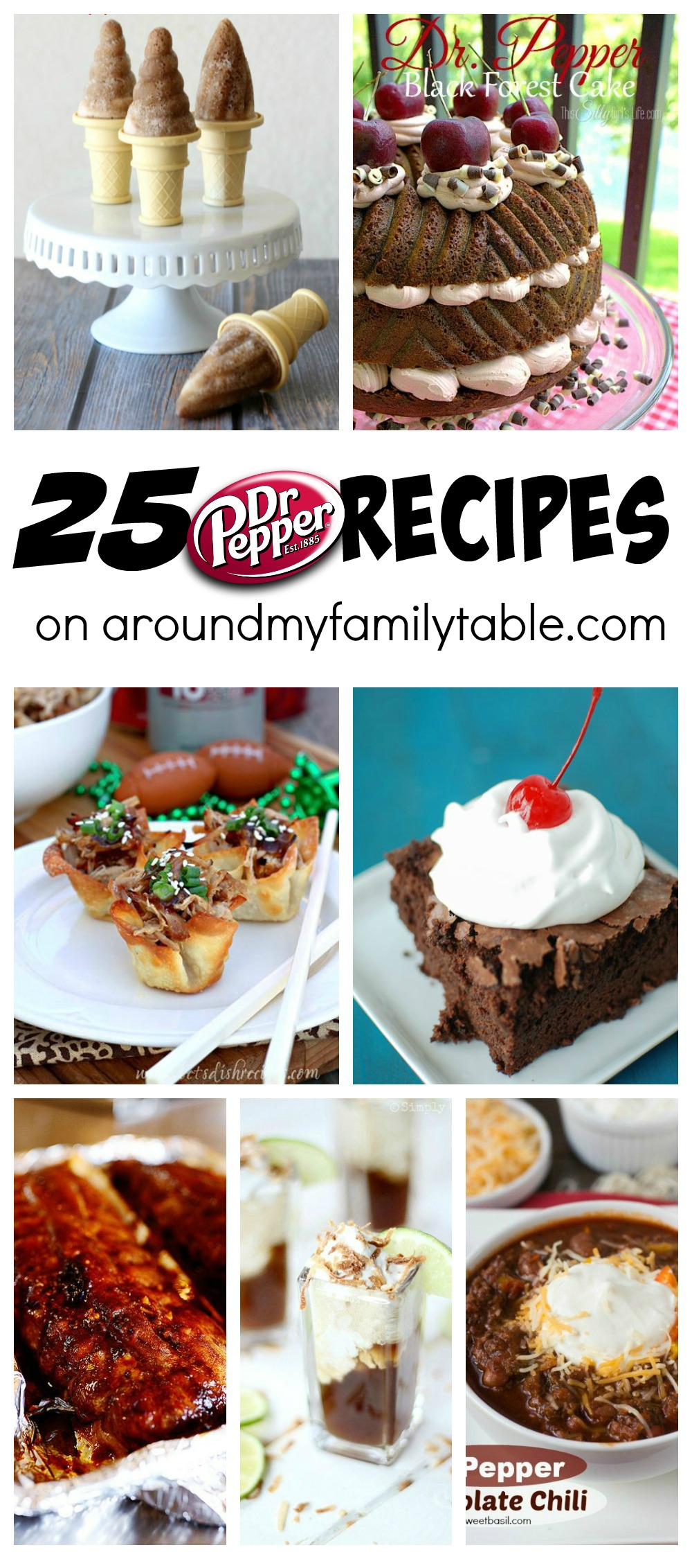 There's a reason why Dr. Pepper is so popular and these 25 Dr. Pepper Recipes are here to show you just how versatile your favorite soda can be!