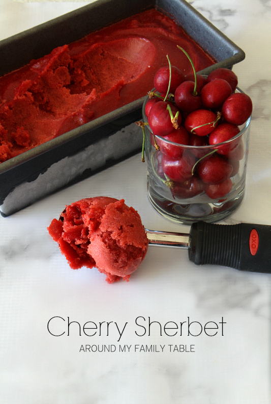 Cherry Sherbet - Around My Family Table