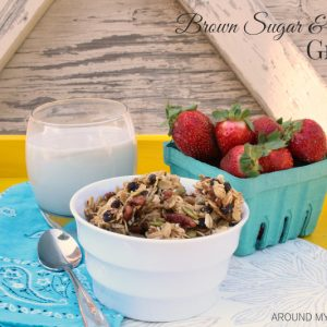 Hearty Brown Sugar & Maple Granola is all you need for a delicious breakfast. Just a little milk for cereal or top a smoothie or add to yogurt.