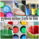 21 Messy Outdoor Crafts for Kids