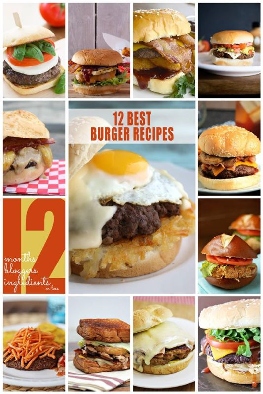 12 Gourmet Burgers each with 12 Ingredients or Less