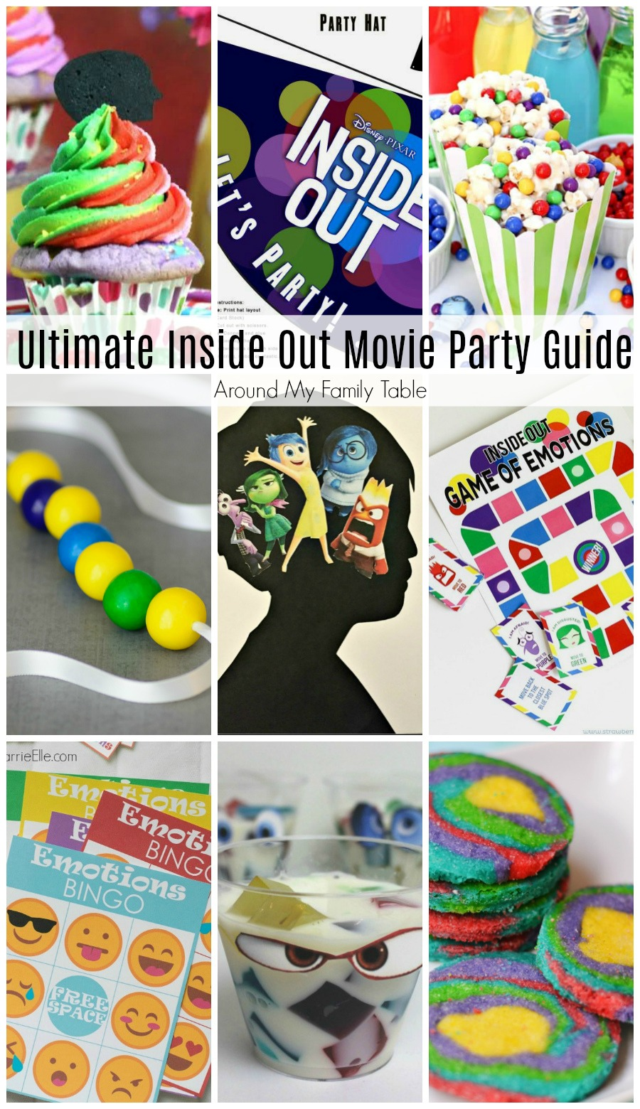 Disney's Inside Out is such a popular movie and kids are still begging for all the Inside Out merchandise and even asked for a party! So, I created the Ultimate Inside Out Movie Party Guide to help in my party planning. via @slingmama