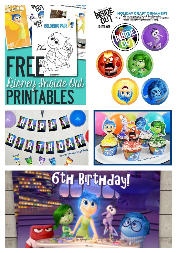 Ultimate Inside Out Movie Party Guide Around My Family Table - Birthday invitations inside out