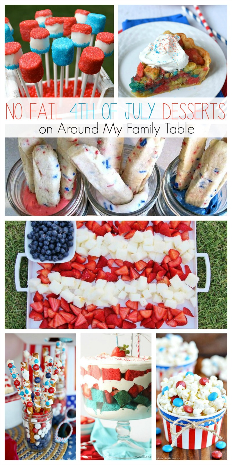 These 25 No Fail 4th of July Desserts are just what you need for a no hassle and fun ending to your party!