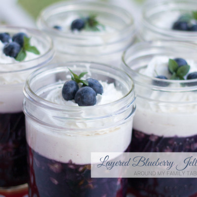 Layered Blueberry Jello Salad