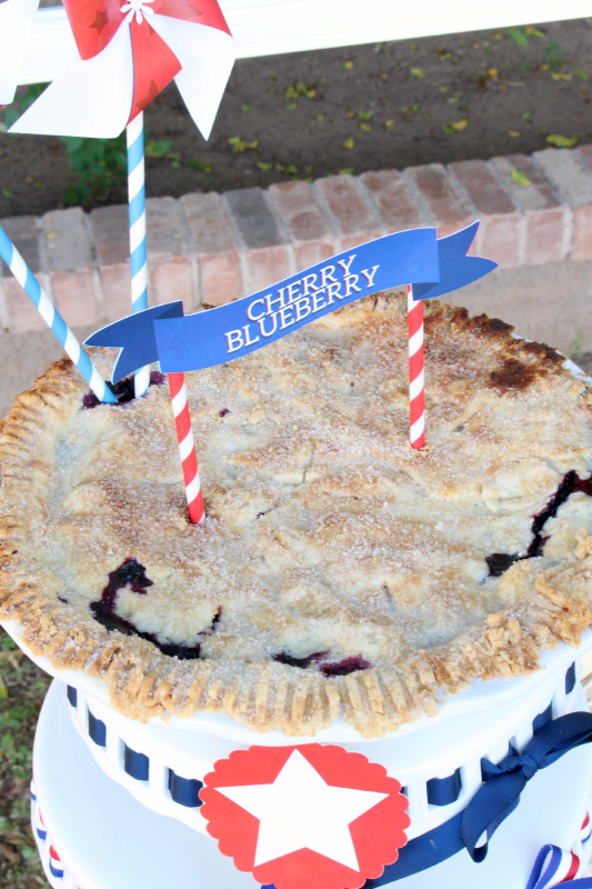 I've been making this Cherry Blueberry Pie for over 15 years and it is, by far, my favorite summer pie.  It's amazingly simple and the cherry blueberry combo is scrumptious!