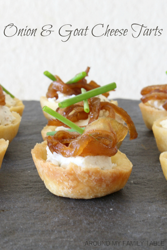 Sweet Onion & Goat Cheese Tarts are easy and delicious. They make a ...