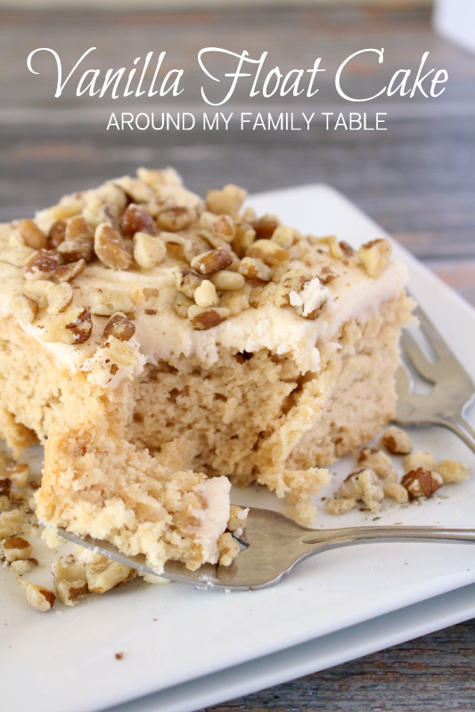 Crazy cake that requires no eggs or oil...this Dr Pepper Vanilla Float Cake tastes like a float but has sort of a praline-like flavor too. It's gluten free and vegan and totally divine!