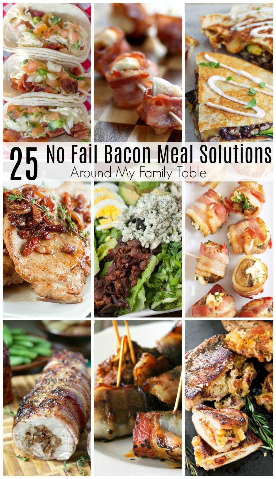 Bacon lovers take note!  Your favorite breakfast meat isn't just for breakfast anymore!  It can be used to in lots of different ways. Think beyond a traditional BLT sandwich for a bacon-inspired supper with these 25 Best Bacon Recipes. via @slingmama