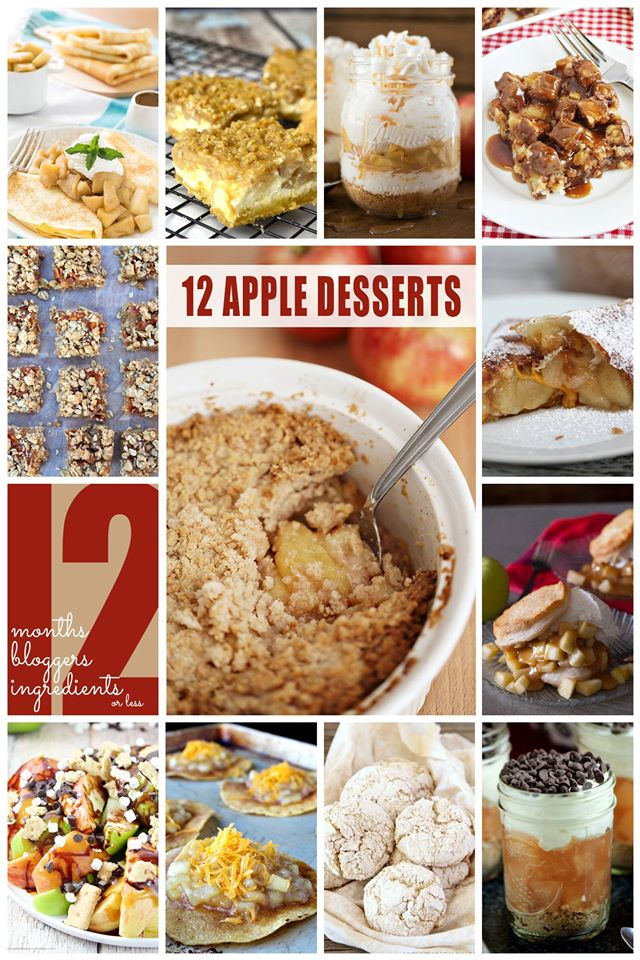 12 Apple Recipes using 12 Ingredients or Less