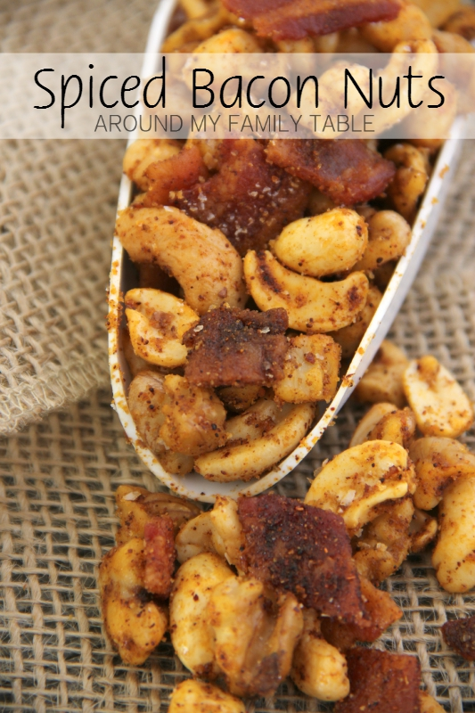 Once you start, it's hard to stop! These SPICED BACON NUTS are addictive!