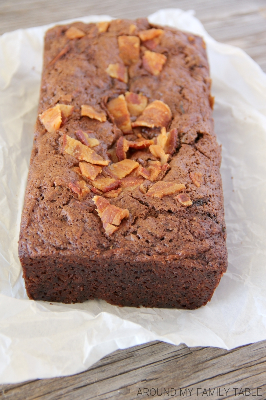 Moist and a little sweet and a little salty, this Bacon Chocolate Zucchini Bread will blow your mind! Trust Me!