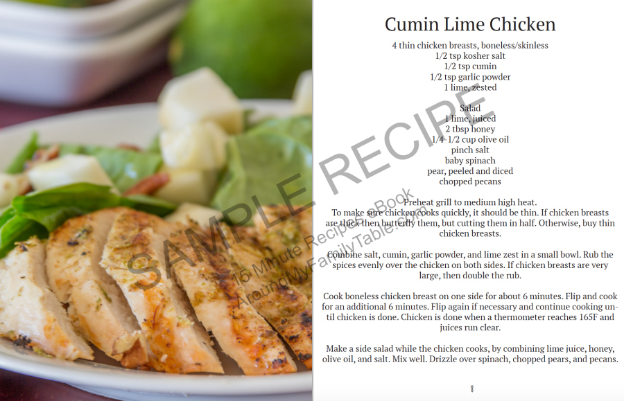 Don't let busy weeknights get you down, you can still create a healthy and delicious supper from start to finish in 15 minutes with the recipes in my 15 Minute Recipes eBook.