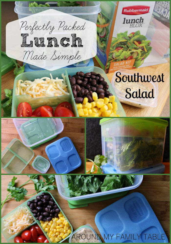 Easy lunch to-go with this Southwest Vegetarian Salad.