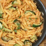 Baked Pasta with Sriracha Cream Sauce
