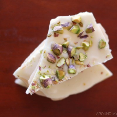 White Chocolate & Pistachios Toffee Butter Crunch Candy