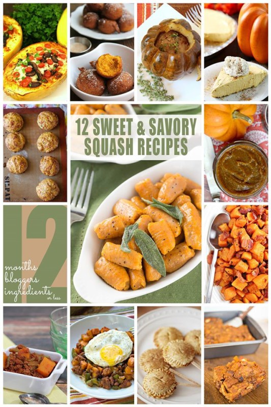 12 Easy and Delicous Squash Recipes
