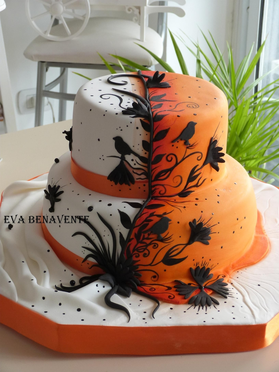 atardecer cake - Halloween Wedding Cakes Pictures