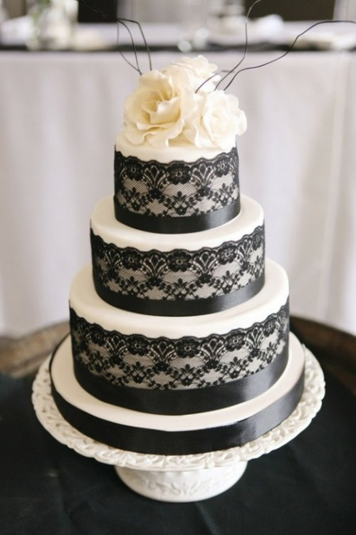 lace wedding cake - Halloween Wedding Cakes Pictures