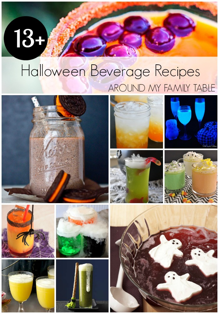 Over 13 Halloween beverage recipes perfect to punch up your party!