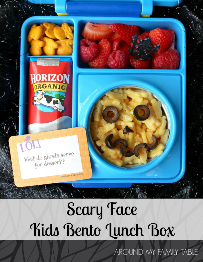 Scary Face Kid's Bento Box is perfect for fall or Halloween!