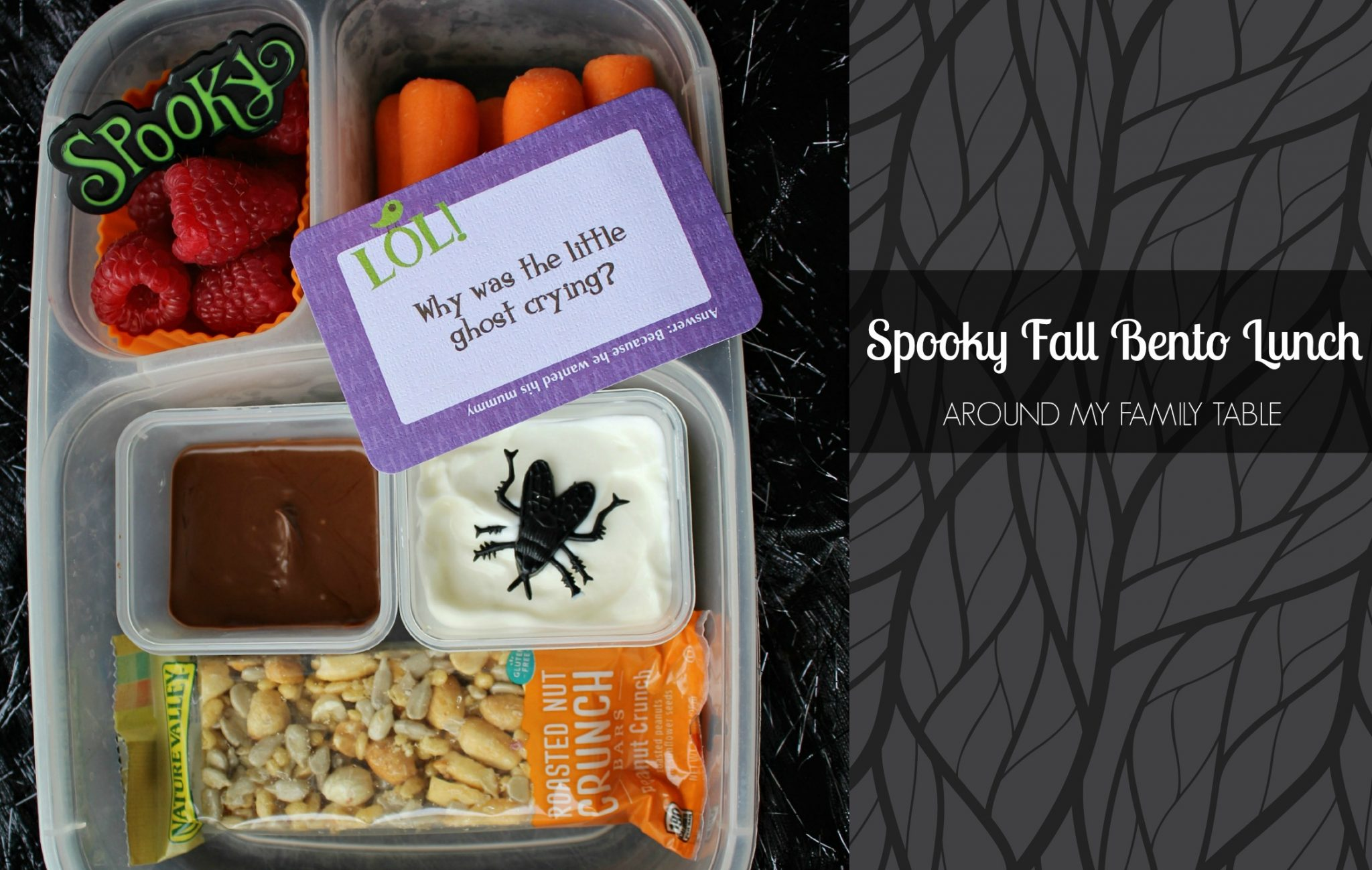 Get the kids excited for Halloween with this fun and Spooky Fall Bento Box idea.