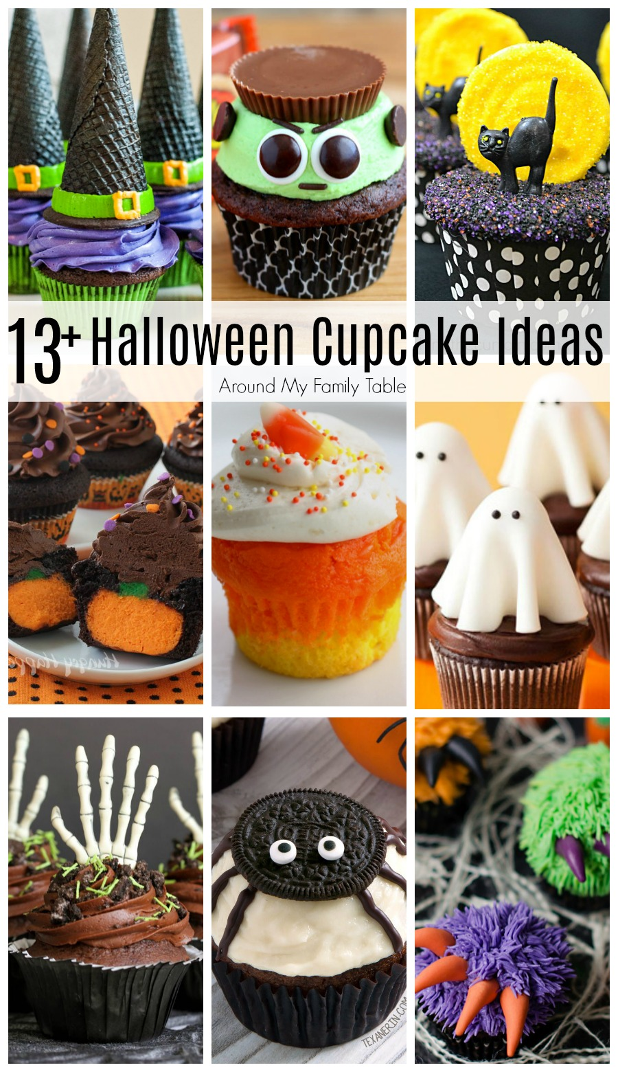 Look no further! I've found over 13 cute and creepy Halloween cupcake ideas. These are the absolute best Halloween Cupcakes for all of your party needs!