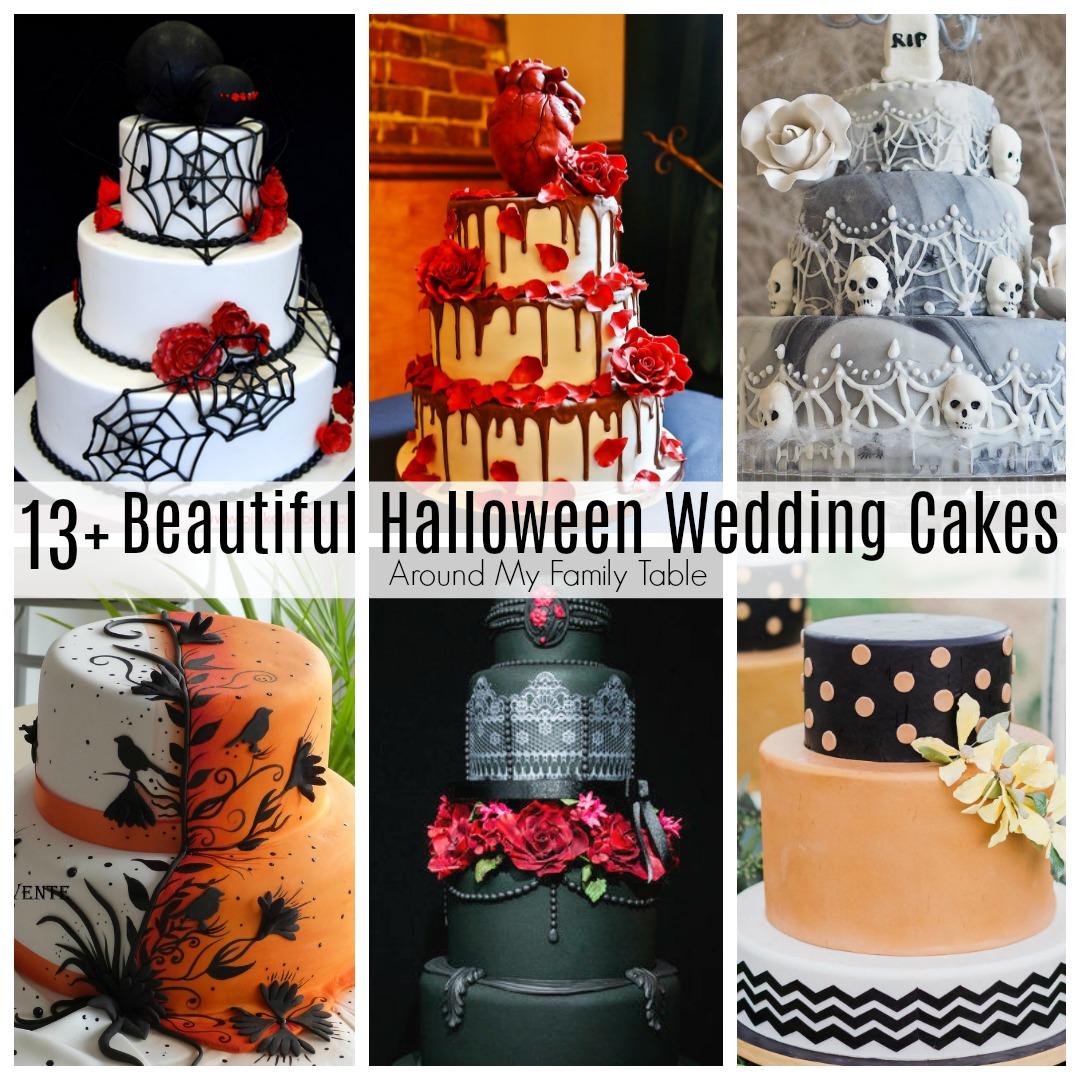 beautiful halloween wedding cakes around my family table