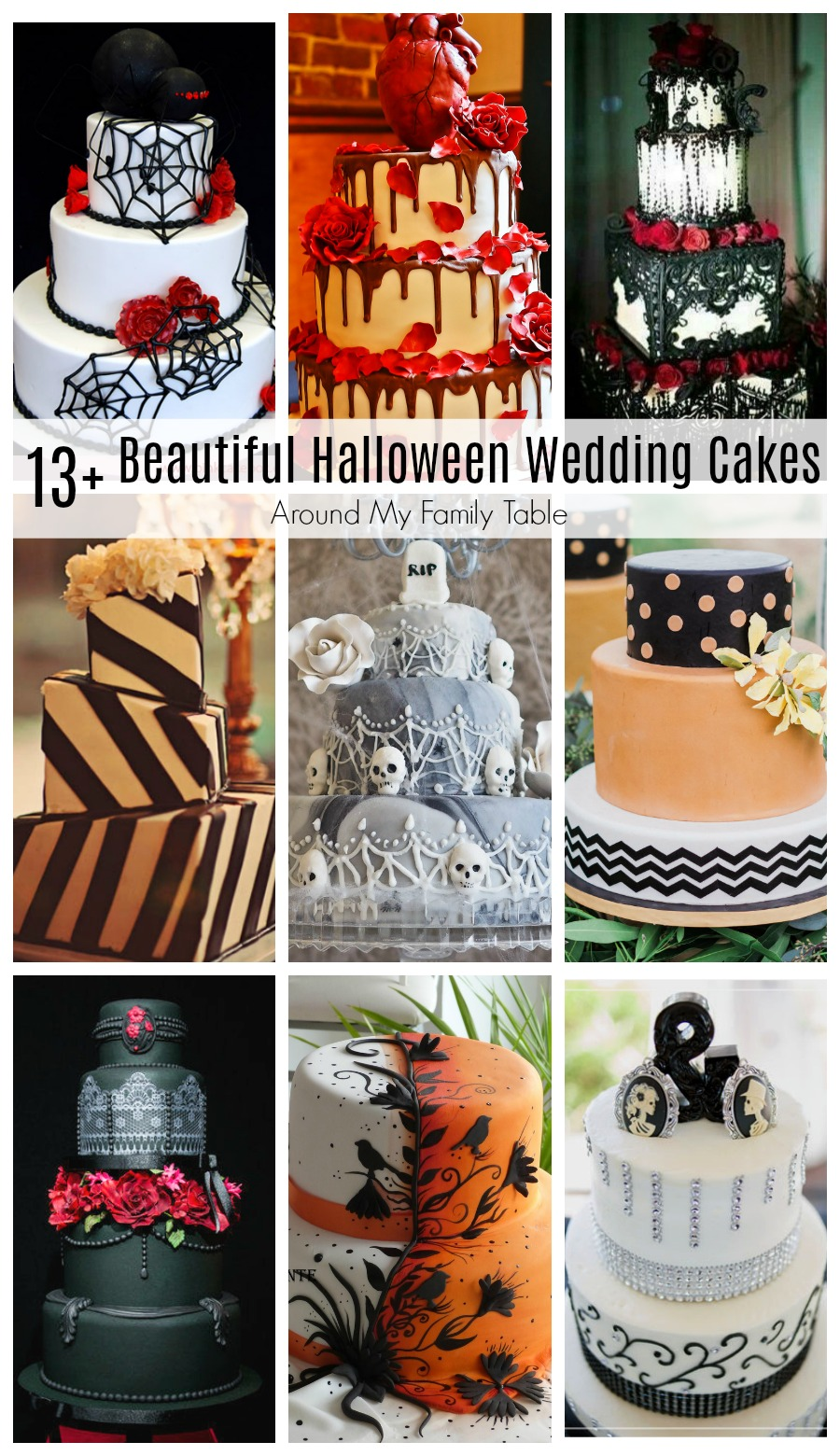 Planning an October wedding?  Check out these Beautiful Halloween Wedding Cakes to get some ideas. From fall ideas to creepy halloween ideas, they are all stunning!