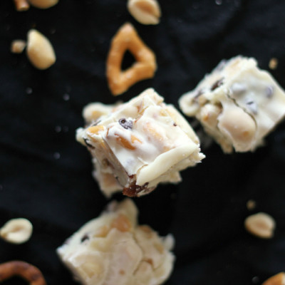 White Chocolate Trail Mix Fudge