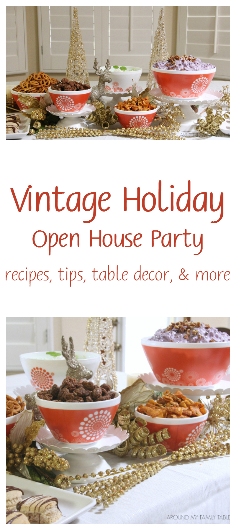Recipes & Tips for throwing a Vintage Holiday Open House Party
