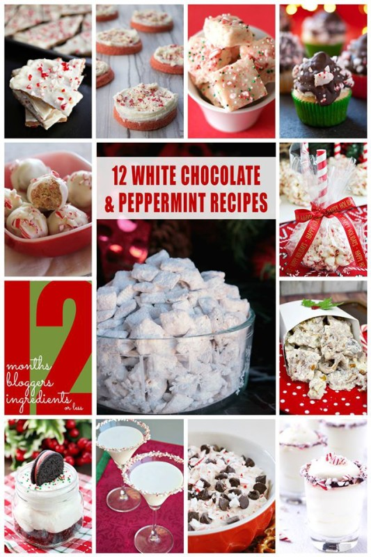 12 White Chocolate & Peppermint Recipes for your holiday sweet tooth.