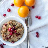 Slow Cooker Orange Cranberry Oatmeal