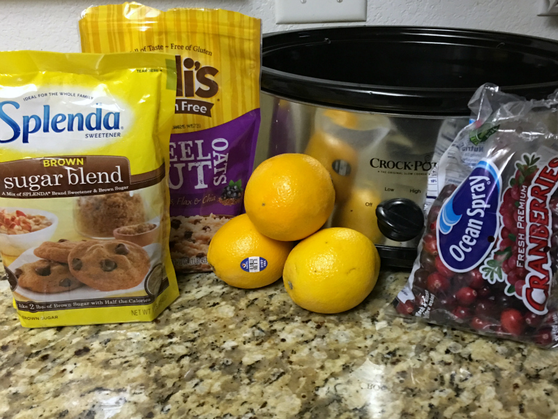ingredients to make Slow Cooker Orange Cranberry Oatmeal