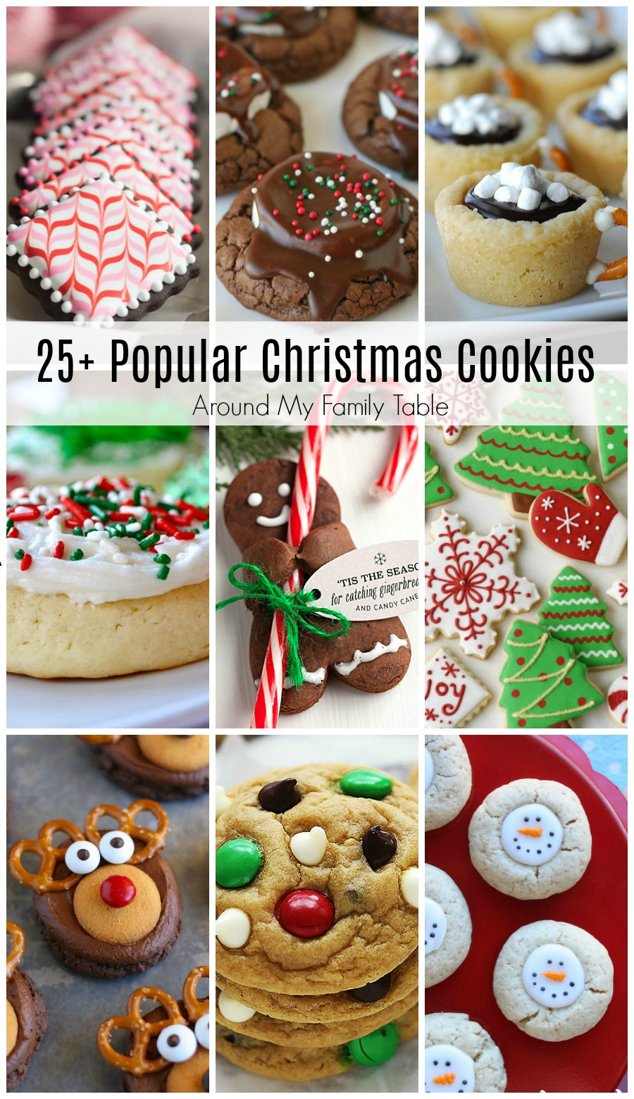 The most popular Christmas Cookie Recipes for your holiday baking needs! These all are perfect additions to any holiday party or dessert tray.