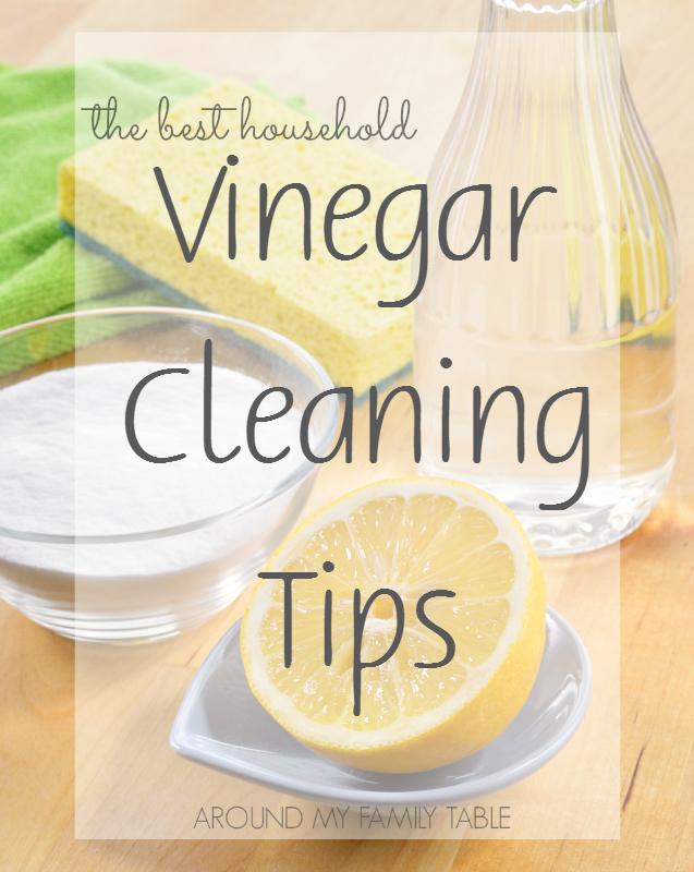 Vinegar Cleaning Tips Around My Family Table