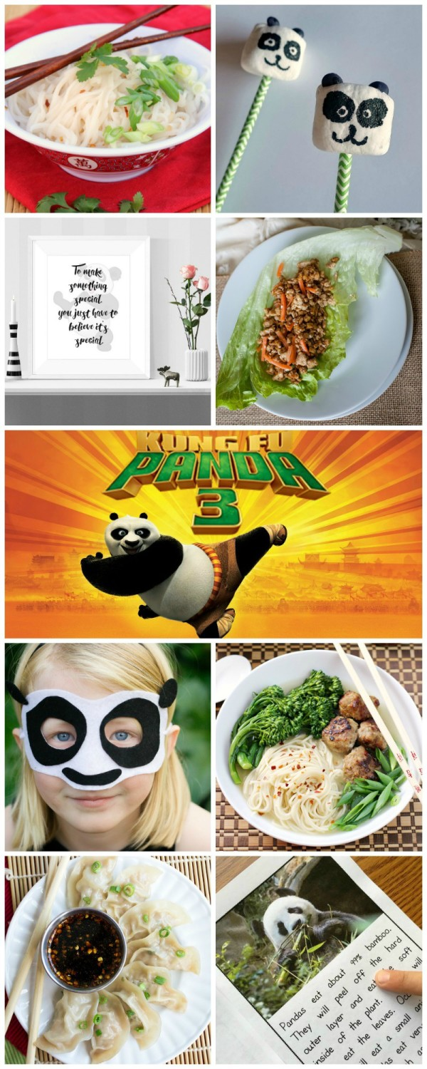 Kung Fu Panda inspired recipes & crafts