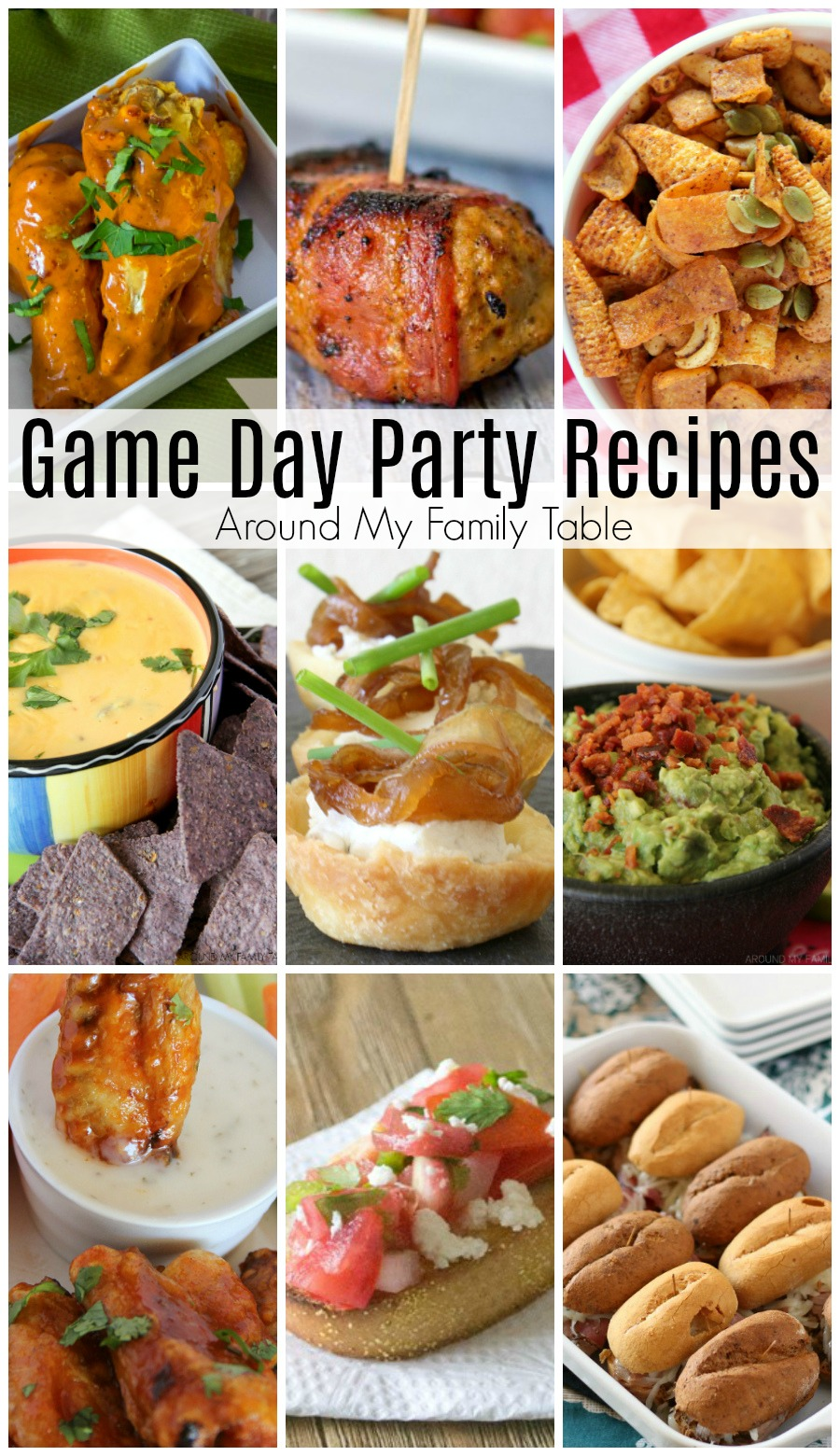 The best Game Day Party Recipes are here just in time for the biggest game of the year.  No party is complete without a wide assortment of delicious food that will keep the gang headed back to the kitchen for more. These are the recipes that my friends ask me to make over and over again for our parties. #gameday #superbowl via @slingmama