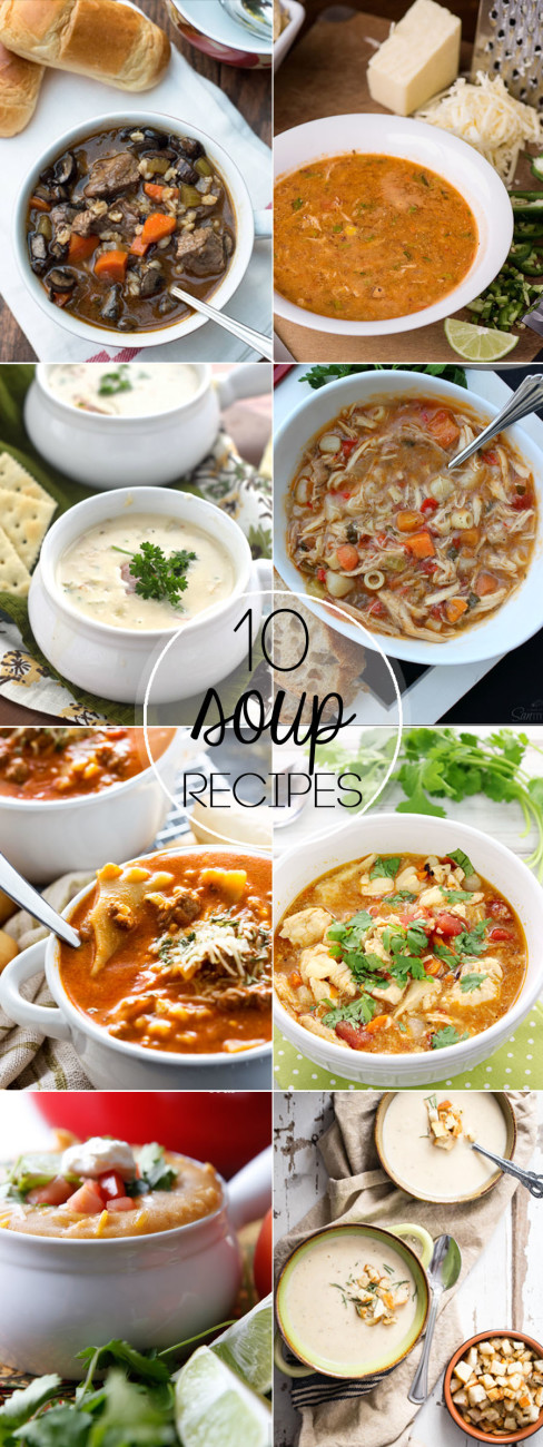 A big bowl of soup and a piece of crusty bread is so warm and comforting. I gathered 10 of the Best Soup Recipes that will make your mouth water.