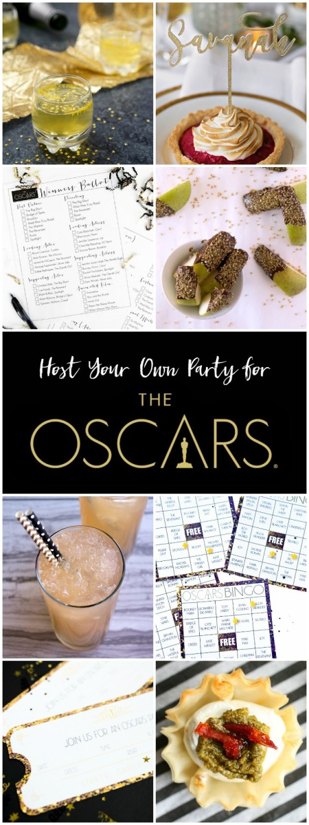 Host Your Own Party for the Oscars with these star studded recipes, crafts, and printables!
