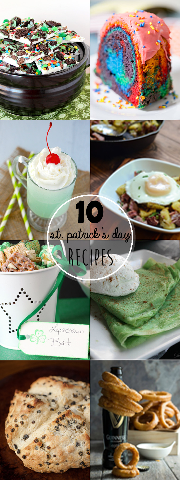 St. Patrick's Day is one of my favorite holidays. I just love the food, so I've rounded up some of the Top St Patrick's Day Recipes.