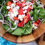 Strawberry & Goat Cheese Spinach Salad