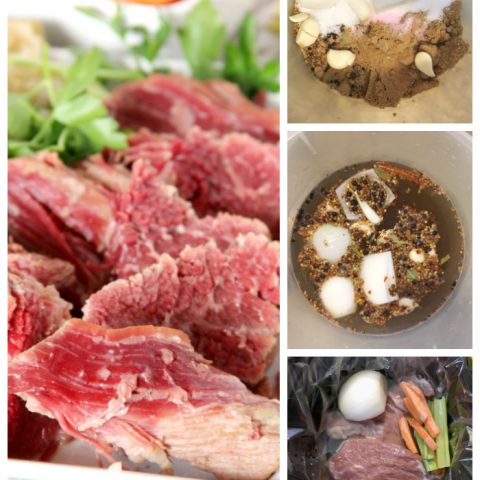 Curing Corned Beef photo collage