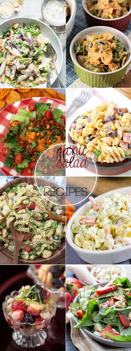 Summer is here and our weekends are filled with BBQs and picnics and these 10 Picnic Salads for Summer are some of my favorites to take along with us.