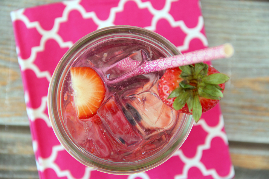There are just 3 simple ingredients for this refreshing and low calorie Berry Spritzer. It will be your go-to summer drink for sure!