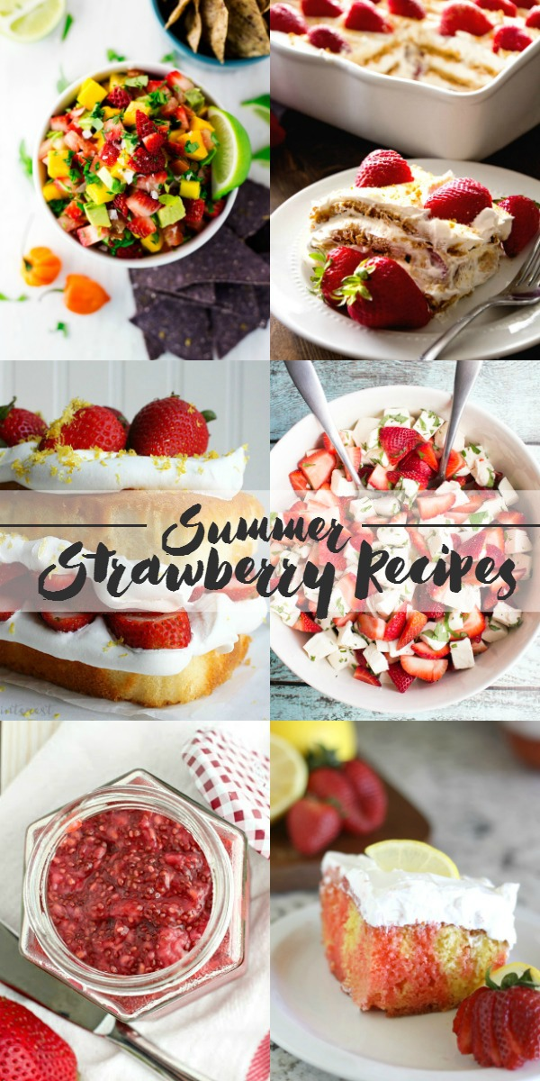 When strawberries are in season I just can't help myself....I make strawberry everything!!! Love these 9 Summer Strawberry Recipes.