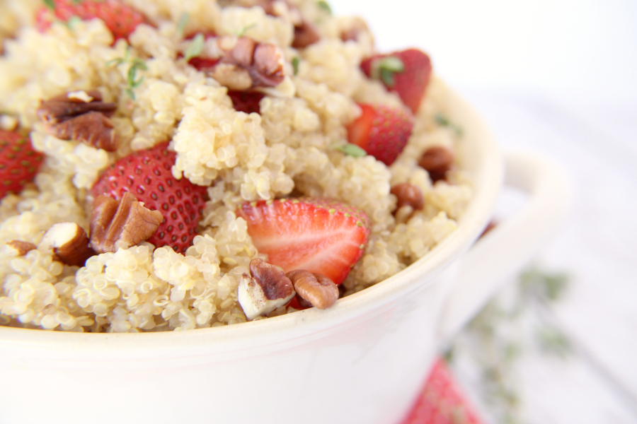 ... be cool and light, like this SWEET STRAWBERRY & PECAN QUINOA SALAD